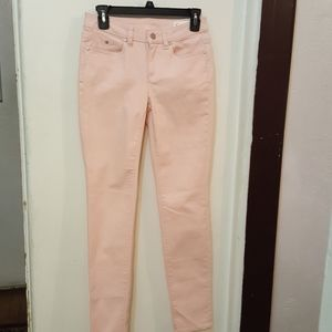 Two Vince Camuto pale pink jeans